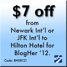 Dial 7 Deals: Special Promotion for BlogHer '12!    Car service