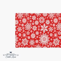 Red  Holiday Table Runner  Red Christmas Table by wfrancislinen