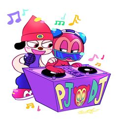 Parappa and PJ by WhiteTigerCubMia on DeviantArt
