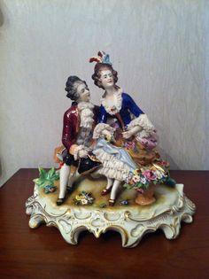 Lovely Dresden Volkstedt Porcelain Figurine Figure Group | eBay