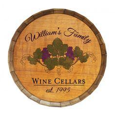 Add Your Name Custom Wine Cellar Barrel