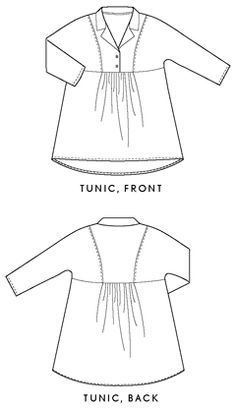late lunch tunic sewing pattern- I have a great wool knit for this!