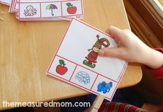 Help your child learn to hear letter sounds with these free clip cards! Get two cards for every letter, PLUS cards for words that start with sh, ch, and th. Letter Sound Activities, Literacy Activities, Sound Clips, Teaching Letters, Phonemic Awareness, Early Literacy, Letter Sounds, Phonics, Kids Learning