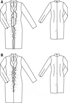 Twinings Dress pattern flat line drawing www.sewingavenue.com