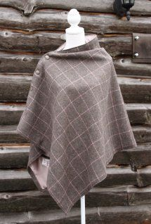 Harriet Hoot Bespoke Harris Tweed Fawn Cape