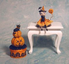 Sonstige Produkte für Puppenstuben & -häuser Artisan Dolls House Polymer Clay magic pumpkin garden Ooak Figure 1:12th