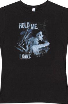 Ladies Hold Me Edward Scissorhands Shirt
