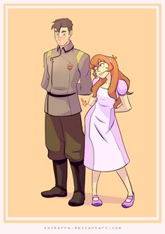Flashback Shiro and Pidge as Katie Holt from Voltron Legendary Defender