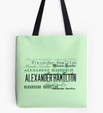 Alexander Hamilton font Tote Bag
