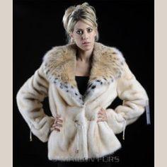Perlato Mink Fur jacket with Lynx collar