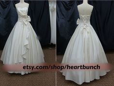 Satin Wedding Gown/ royal gown by heartbunch on Etsy, $260.00  or email us at heartbunch@outlook.com