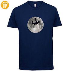Sky Diving Moon - Herren T-Shirt - Navy - XXL (*Partner-Link)