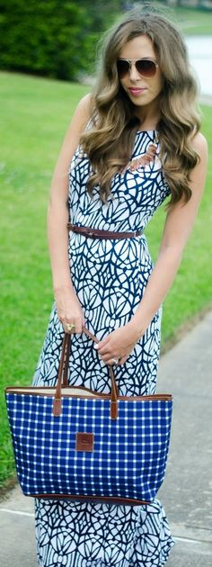 Tart Collections Black and White Patterned Sleeveless Bodycon Maxi Dress | Via ~LadyLuxury~