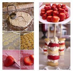 Diy food, Strawberry shortcake? =)