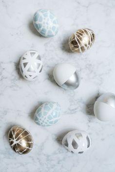 Kreative #Ostereier: Grafisches Design mit Pastel, Gold & Silber #Dekoration