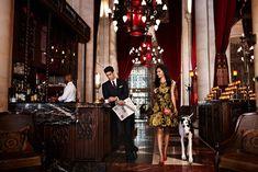 good colors and decor for inspo for bedeken/ bride's reception - Knave @ Le Parker Meridien Hotel NY