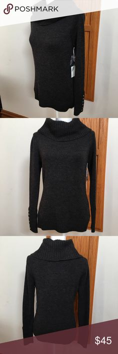 Tweeds Charcoal Italian Merino Wool Sweater This is a new tweeds 100% Italian merino wool sweater. Ladies size small. No trades please. Tweeds Sweaters Cowl & Turtlenecks