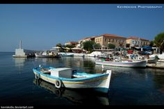 Fishing Village of Agios Nikolaos, Selinitsa, Mani, Peloponnese, Greece Fishing Villages, Fishing Boats, Sailing, Places To Visit, Europe, Life, Islands, Greece, Candle