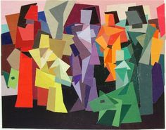 Figures in Landscape 2 by Ken Kewley, 2003, collage,  5 1/2 x 6 7/8 inches