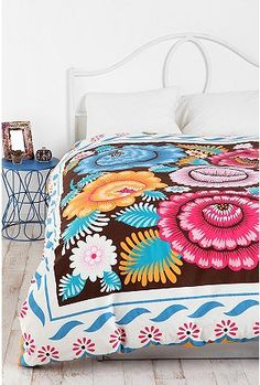 Mexican embroidery on pinterest mexican fashion polish Mexican embroidered bedding