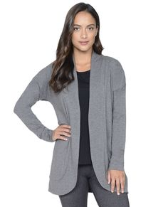 Shop Danskin.com for Essentials Open Front Cardigan and see the entire selection of Tops.