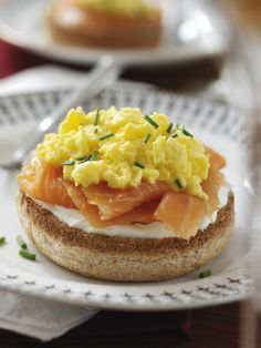 Scrambled Eggs with Smoked Salmon.   A sprinkle of Pepper Coarse on top to make it delcious #Snapin