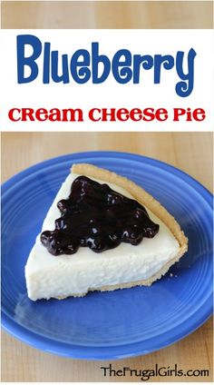 Blueberry Cream Cheese Pie Recipe! ~ from TheFrugalGirls.com ~ such an easy and delicious No Bake Dessert for tonight's dinner, or your Easter or 4th of July parties! #recipes #pies #thefrugalgirls
