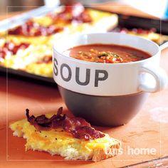 Genoeg vir: porsies Bereidingstyd: 25 minute Oondtemperatuur: 200 °C Baktyd: Soup Broth, Garlic Soup, South African Recipes, Dessert Recipes, Desserts, Winter Food, Cooking Recipes, Favorite Recipes, Snacks