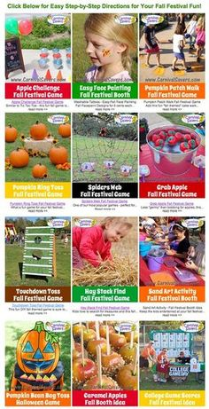 FREE Fall Festival Games & Ideas - Perfect for schools and churches!