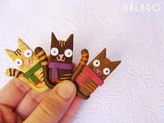 These would be so cute to make from polymer clay!  Maybe for magnets?