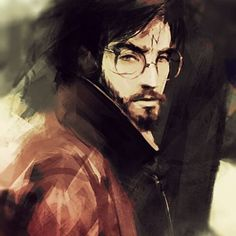 The Chosen One. Happy birthday, Harry Potter :) by Pokie. Not a huge fan of the beard, but oh well. Arte Do Harry Potter, Harry Potter Artwork, Harry Potter Drawings, Harry Potter Universal, Harry Potter World, Albus Dumbledore, Hogwarts, Geeks, Fanart