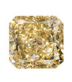 0.97 Carat Fancy Brownish Yellow Radiant Diamond