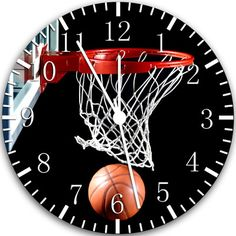 "New Basketball Wall Clock 10"" Room Decor W118 Fast Shipping | eBay"
