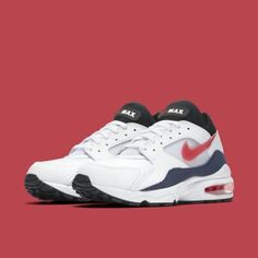 467e96ac3b5 Nike Air Max 93 'Flame Red' White/Habanero Red-Neutral Indigo-Black Release  Date