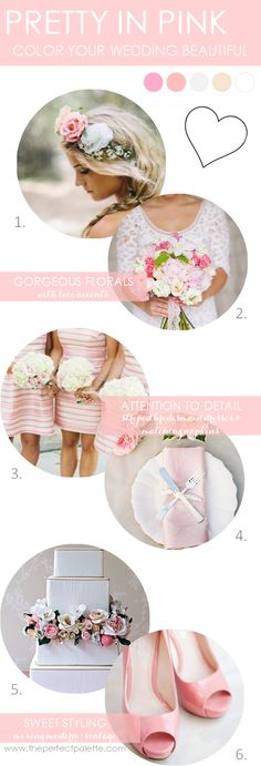 Pretty in Pink   Styling tips on how to use color to  bring your wedding to life! http://www.theperfectpalette.com/2013/10/pretty-in-pink-color-your-wedding.html