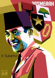 Sukarno (Soekarno) in WPAP by aHafizhi on DeviantArt Music Room Art, Computer Art, Coreldraw, Vector Art, Pop Art, Muslim, Den, Digital Art, Photoshop