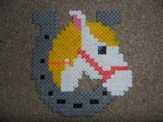 Pferd -Cheval hama beads by creation-nath