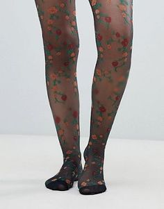 Buy ASOS DESIGN floral tights at ASOS. With free delivery and return options (Ts&Cs apply), online shopping has never been so easy. Get the latest trends with ASOS now. Grunge Look, 90s Grunge, Cute Stockings, Silk Stockings, Aria Montgomery, Le Happy, Mermaid Tights, Floral Tights, Wool Berets