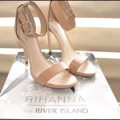 Rihanna for River Island Ankle Strap Stiletto Never worn and only has minimal marks under the shoe from trying them on indoors. Rihanna for River Island Shoes Heels