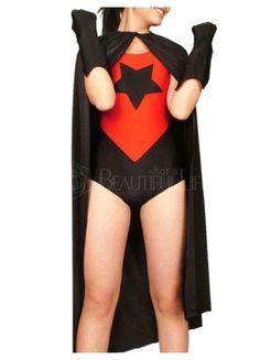 $92.99  Red And Black Lycra Spandex Super Hero Leotard Catsuit