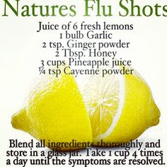 """It's a controversial subject, but I personally do not believe in flu shots. People will argue but you""""ll never convince me they work or alright and healthy to take. I fought it off with some of the things here along with vitamin D3, vitamin C 1000mg, & echinacea. I took them every 3 hours. No flu for me! I believe there's a natural cure for everything and the natural way is way more beneficial than the """"medical"""" way. It's my beliefs and that what I'm sticking to. Try this """"flu shot"""" this…"""