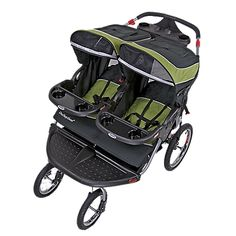This looks like a GREAT way to tote Z and H while K bikes to school...I can jog better with them in a stroller than with him strapped to me!!