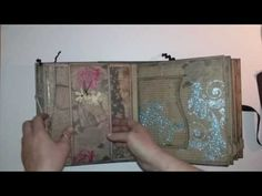 Interactive Vintage Scrapbook - YouTube