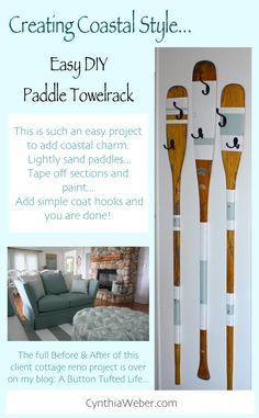 DIY Paddle towelrack CynthiaWeber.com