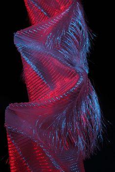 Liquid Light, 3D hand woven textile installation by Jane Frazer