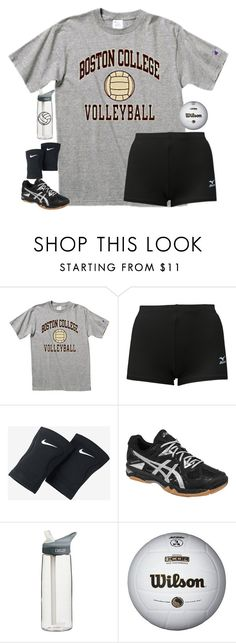 """""""Volleyball tryouts!//rtd"""" by sweettoothegj ❤ liked on Polyvore featuring Mizuno, NIKE, Asics, CamelBak and schooltimewithellie"""