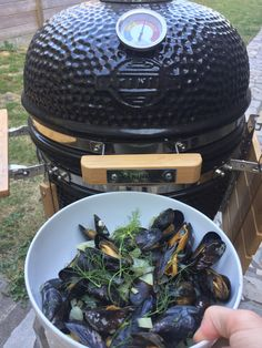 Kamado Bbq, Vegan Dinner Party, Green Eggs, Charcoal Grill, Dutch Oven, What To Cook, Vegan Dinners, Barbecue, Seafood