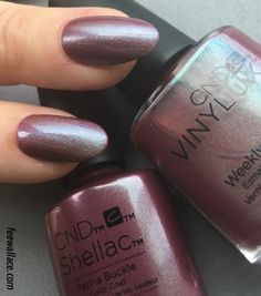 shellac and vinylux colour patina buckle from the cnd craft culture collection by fee wallace