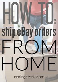 How To Ship on eBay: 4 Easy Steps To Get Your Packages Out Work From Home Jobs, Make Money From Home, Make Money Online, How To Make Money, Home Based Business, Business Tips, Online Business, Business Planning, Export Business