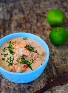 Ragout de poisson Brésilien au lait de coco, tomates et poivrons : Moqueca de peixe